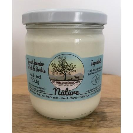 Yaourt nature lait de brebis (400g)